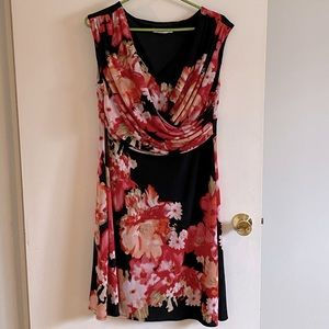 Ricki's Floral pattern Mini (knee length) Dress XL